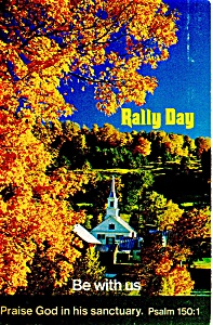 Rally Day Be With Us Postcard P12748 1980