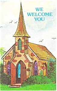 We Welcome You Church Postcard p12757 (Image1)
