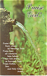 Praise God, Bible Verse Postcard p12758 (Image1)