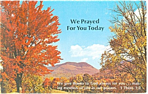 We Prayed For You Today. Postcard P12768