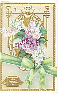 Lilacs Emblems of  First Love Postcard (Image1)