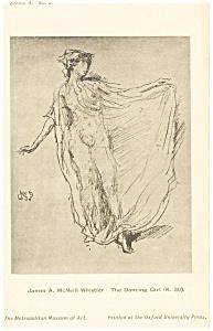 James Whistler Dancing Girl Artwork Postcard p12789 (Image1)