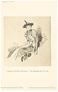 James Whistler Winged Hat Artwork Postcard p12790 (Image1)