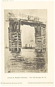 James Whistler Tall Bridge Artwork Postcard p12793 (Image1)