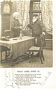 Auld Lang Syne Poem Postcard p12804 1908 (Image1)