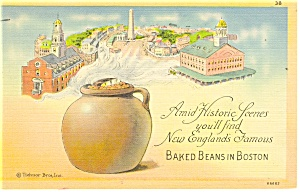 Baked Beans in Boston Postcard p12807 1947 (Image1)