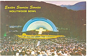 Hollywood Bowl Easter Sunrise Service Postcard P12814