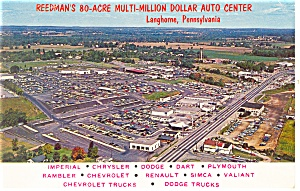 Langhorne PA  Reedman s Auto Center Postcard p12822 (Image1)
