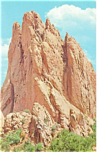 Gateway Rock Garden Of The Gods Co Postcard P12847 1969