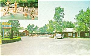Caravan Motel Niagara Falls Ontario Postcard p12880 Car 60s (Image1)