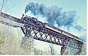 Green Mountain Railroad  No 89 Steam Loco Postcard p12904 (Image1)