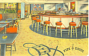Fife and Drum Bar Interior Hotel Witherill  Postcard p12915 (Image1)