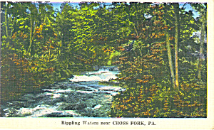 Rippling Waters,Cross Fork, PA Postcard 1935 (Image1)