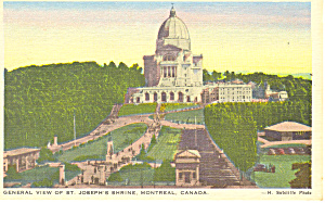 St Joseph s Shrine Montreal  Quebec Postcard p12945 (Image1)