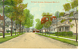 Orchard Avenue Richmond Hill NY Postcard p12946 1912 (Image1)