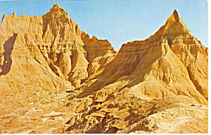 Badlands of South Dakota Postcard p12968 (Image1)