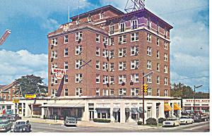Waycross, GA, Hotel Ware Cars 50s Postcard 1962 (Image1)
