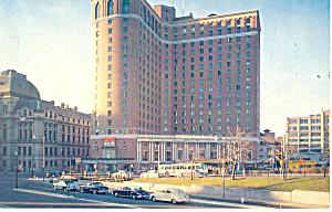 Providence  RI Sheraton Biltmore Cars 50s Postcard p12981 1960 (Image1)