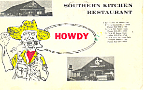 Southern Kitchen Restaurant Postcard p12994 (Image1)