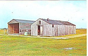 Wright Brothers Camp Buildings Outer Banks NC Postcard p12995 (Image1)