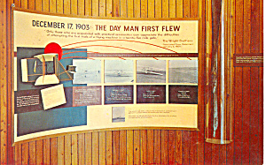 The Day Man First Flew Outer Banks NC Postcard p12996 (Image1)