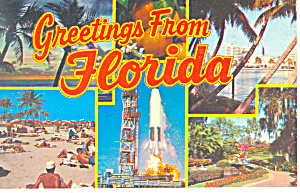Greetings From Florida Multiview Postcard p12997 (Image1)