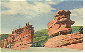 Garden Of The Gods Co Steamboat Rock Postcard P13015