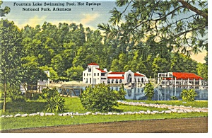 Hot Springs National Park, Ar Postcard