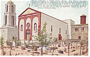 Mission Guadalupe Ciudad Juarez, Mexico Postcard (Image1)