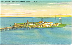 Charleston, SC Fort Sumter Postcard (Image1)