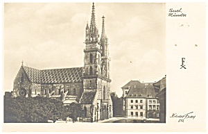 Switzerland The Basel Munster Cathedral Postcard p13111 (Image1)