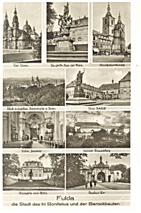 Fulda Hesse Germany Multiple View Postcard P13114