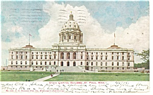 St Paul, MN, State Capitol Postcard 1907 (Image1)