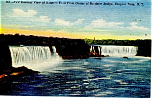 General View of Niagara Falls Postcard (Image1)