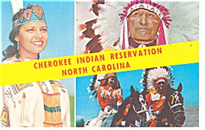 Cherokee Indian Reservation NC Postcard p13146 (Image1)