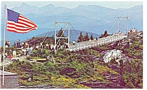 Grandfather Mt NC Mile High Bridge Postcard p13147 (Image1)