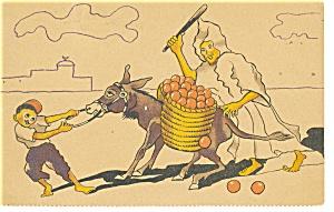 Stubborn Donkey Comical Postcard p13151 (Image1)