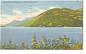 Lake George NY Deer Leap Mountain Postcard p13167 (Image1)