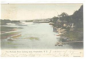 Amsterdam NY Mohawk River Postcard p13172 1906 (Image1)