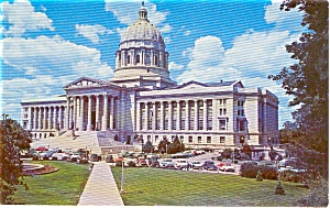 Jefferson City MO State Capitol Postcard (Image1)