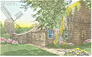East Hampton NY Home Sweet Home Hand Color Postcard p13183 (Image1)