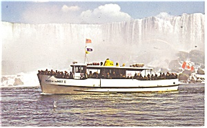Maid of the Mist at American Falls  Postcard p13201 (Image1)