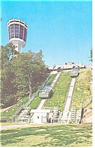 Horshoe Falls Incline Railway  Postcard p13202 (Image1)