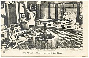 Afrique du Nord Interieur de Bain Maure Algeria Postcard p13219 (Image1)