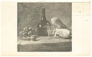 Still Life with Plums Chardin Postcard p13229 1968 (Image1)