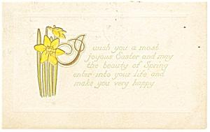 Easter Postcard Daffodils 1910 (Image1)