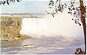 Horseshoe Falls And The Maid Of Mist Postcard P13247