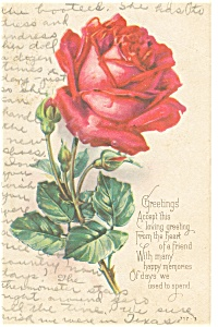 Loving Greetings Postcard p13265  Rose (Image1)