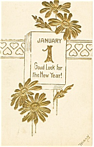 New Years Postcard Calender Page 1907 p13276 (Image1)