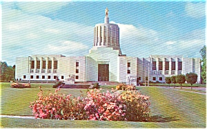 Salem OR State Capitol Postcard p1328 (Image1)